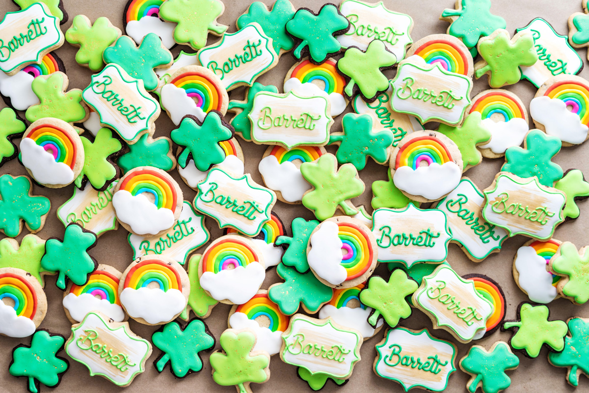 St Patrick's Day Birthday Party Cookies