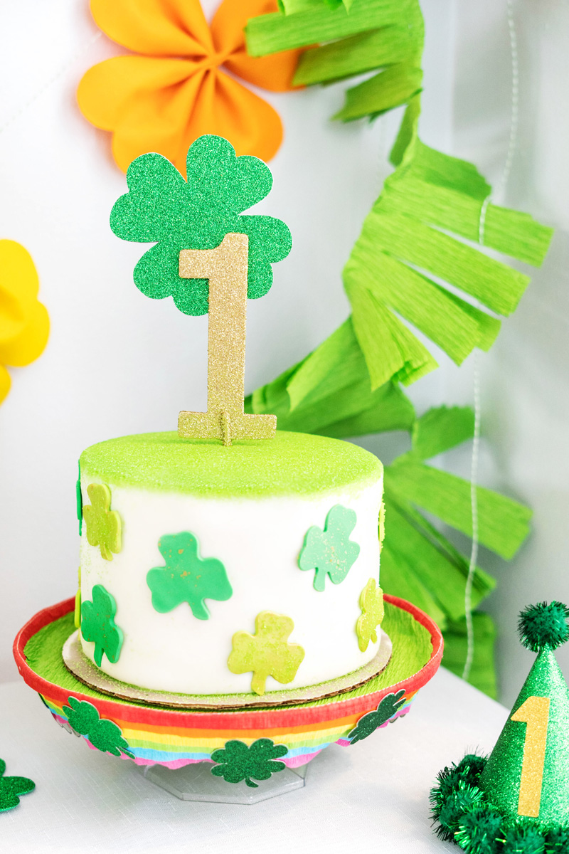 St Patrick's Day Birthday Party Cake